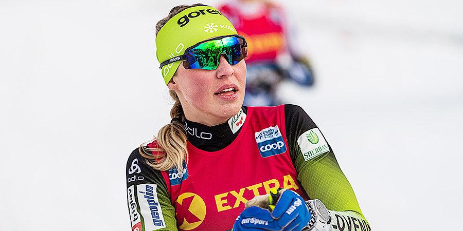 «Она не умеет кататься на лыжах, разрушила мой план на финал». Лампич обвинила норвежку в своем падении