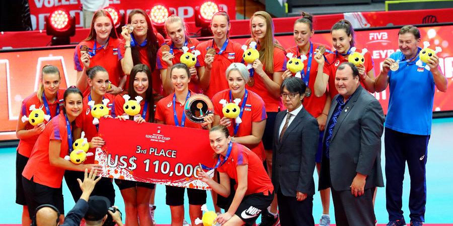Российские волейболистки завоевали бронзу Кубка мира