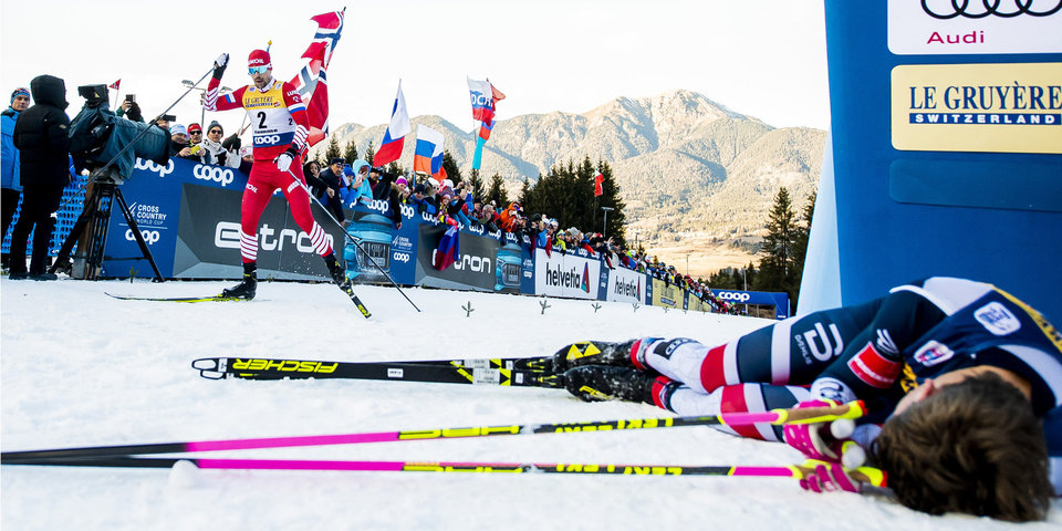 Непряева и Устюгов — вице-чемпионы «Тур де Ски», Большунов — 5-й. Как это было