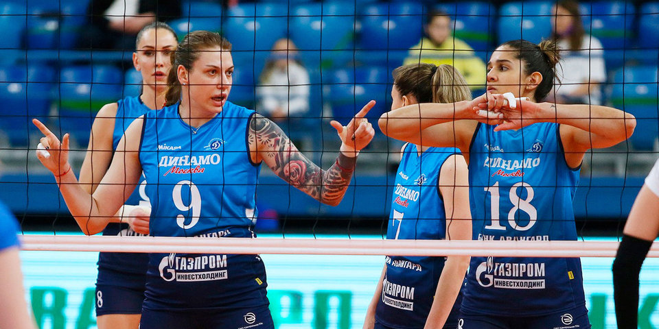 Волейболистки московского «Динамо» обыграли «Заречье» и возглавили Суперлигу