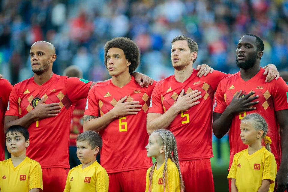 Сборная Бельгии проводит тренировку в две группы в преддверии матча за 3-е место на ЧМ