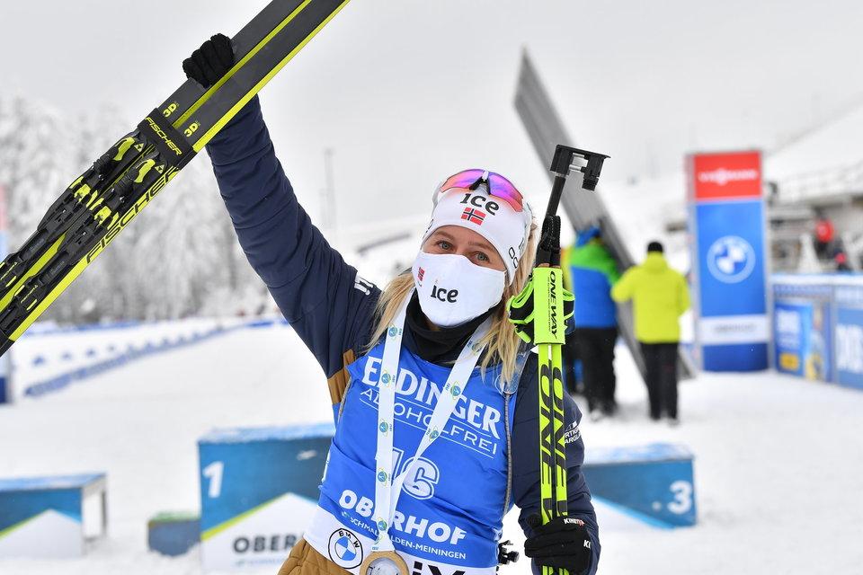 Норвежка Экхофф выиграла гонку преследования на этапе КМ в Нове-Место, Миронова — 14-я