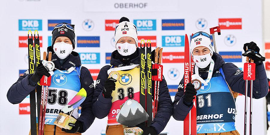 «Мы знаем, что все в команде сильны». Очередной норвежский день на Кубке мира по биатлону
