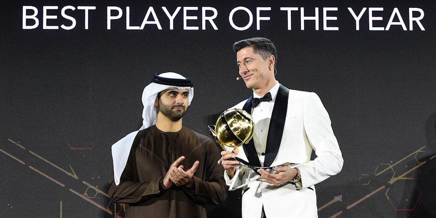 Левандовский признан лучшим футболистом года по версии Globe Soccer Awards, Роналду — 21 века