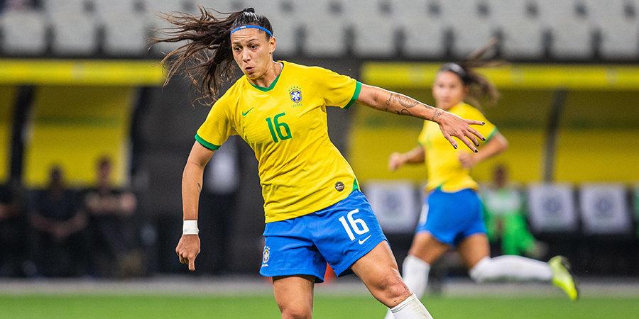 Футболистки сборной Бразилии разгромно проиграли 16-летним игрокам «Гремио»