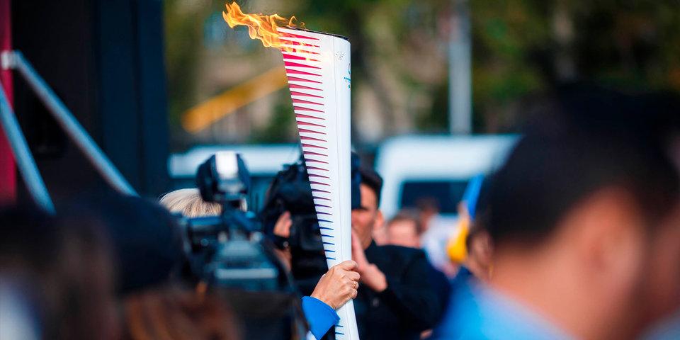 Очередной этап эстафеты огня Универсиады пройдет в Грозном