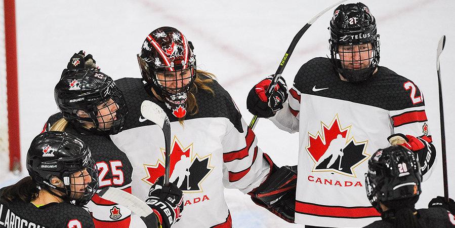 Сборные Канады и США сыграют в финале женского ЧМ по хоккею