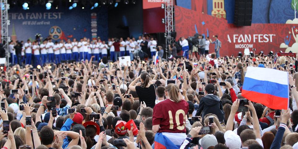Фестиваль болельщиков на Воробьевых горах суммарно собрал уже 1,6 миллиона человек