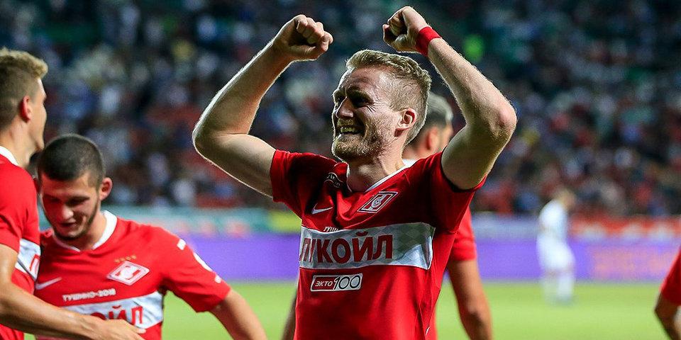 Дебютный гол Шюррле помог «Спартаку» обыграть «Ахмат», Тиль и Ларссон дебютировали за красно-белых