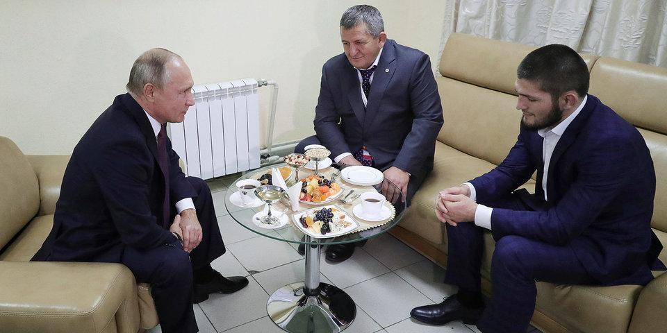 Нурмагомедов поблагодарил президента России Путина за теплый прием