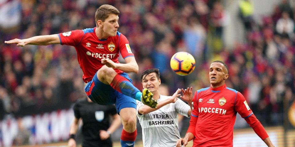 ЦСКА вел 2:0 до 87-й минуты, но не смог выиграть у «Уфы». Видео голов