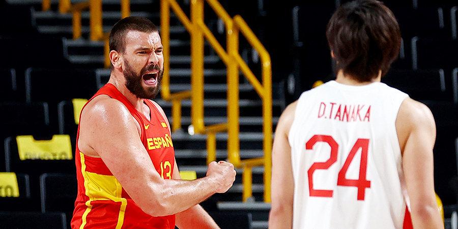 Испанские баскетболисты победили Японию на Олимпиаде