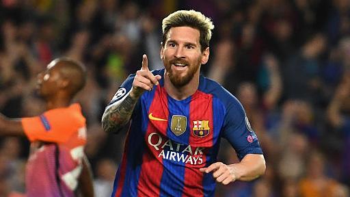 Образца. «Барселона» разгромила «Жирону» благодаря голам Месси, Суареса иКоутиньо