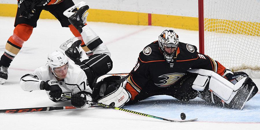 Гусев отдал голевую передачу, но «Нью-Джерси» разгромно уступил, а Прохоркин забросил четвертую шайбу в сезоне. Обзор дня НХЛ