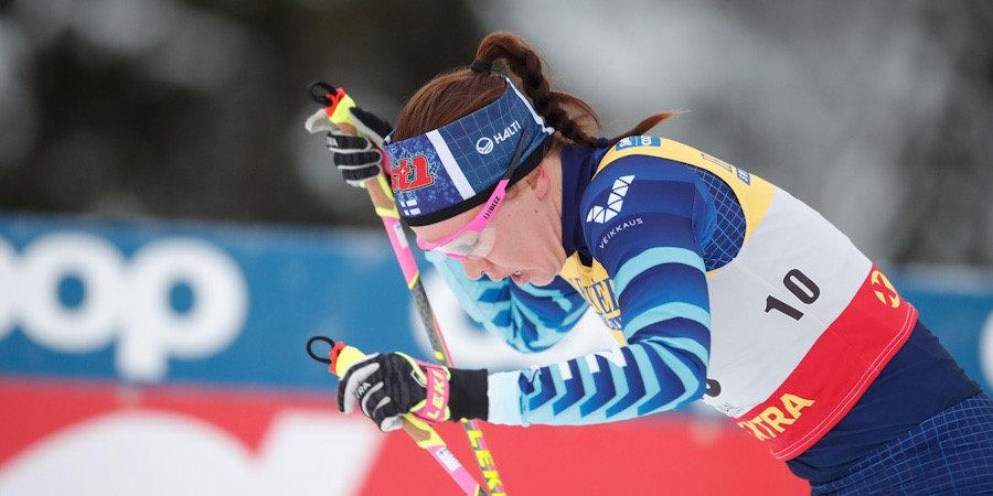 Финская лыжница сломала ногу в масс-старте в Фалуне, но заметила это только после финиша