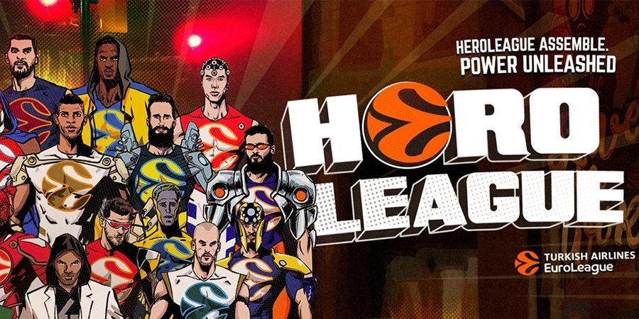 Евролига показала первый эпизод The HeroLeague, в которой игроки перевоплотились в супергеров