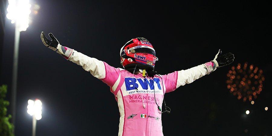 «Люблю тебя, малыш. Мы победили!» Перес позвонил маленькому сыну после победы в Бахрейне (видео)