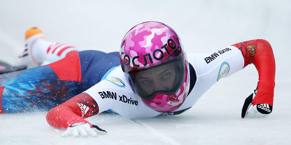 Никитина завоевала серебро чемпионата Европы по скелетону