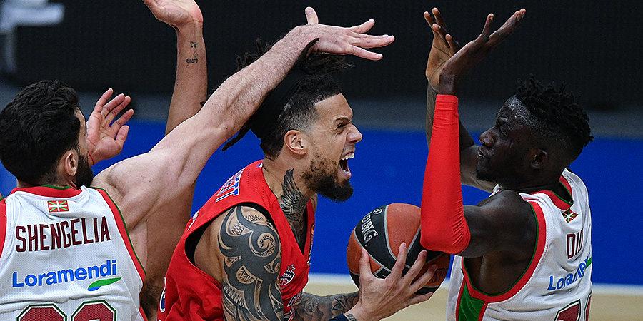 ЦСКА разгромил «Басконию» в первом матче плей-офф Евролиги