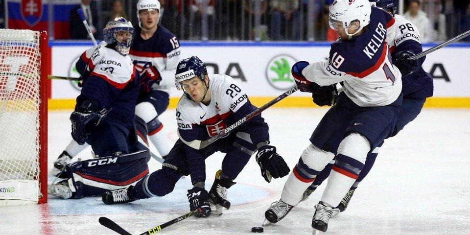 Шесть шайб сборной США в ворота Словакии