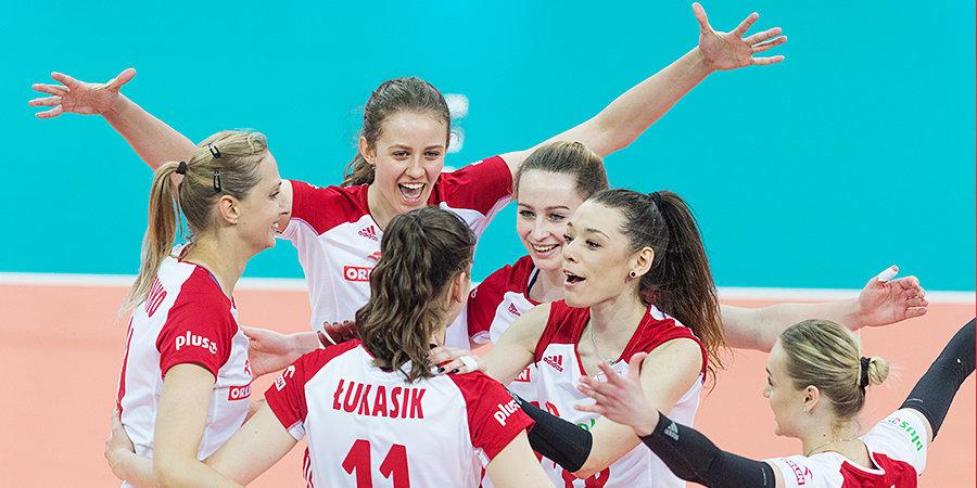 Польша обыграла Германию на чемпионате Европы по женскому волейболу