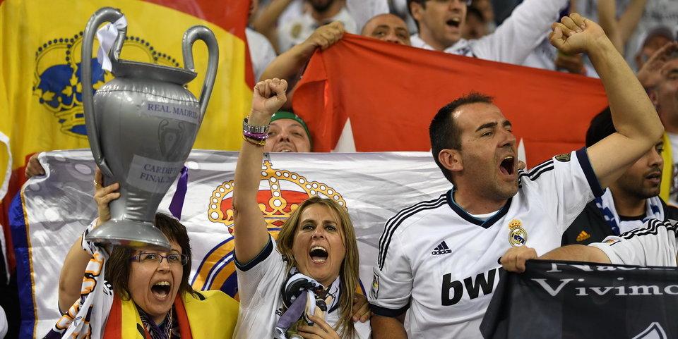 Болельщики «Реала» празднуют чемпионство. Попробуйте остановить их