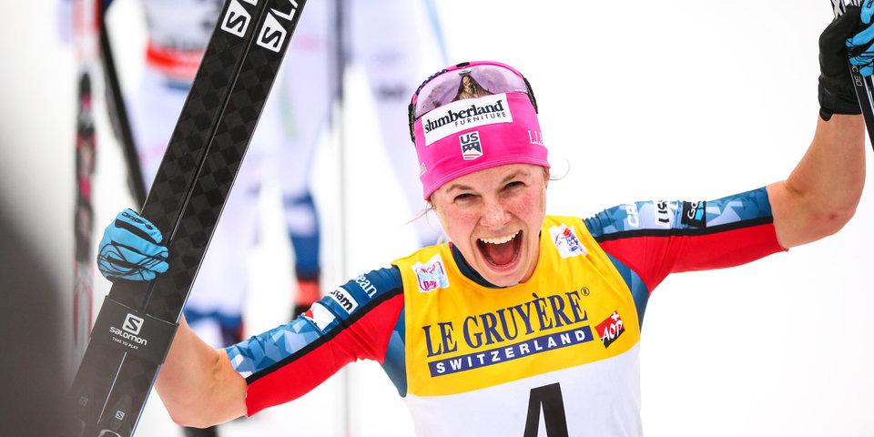 Диггинс выиграла спринт на этапе Кубка мира в Конье