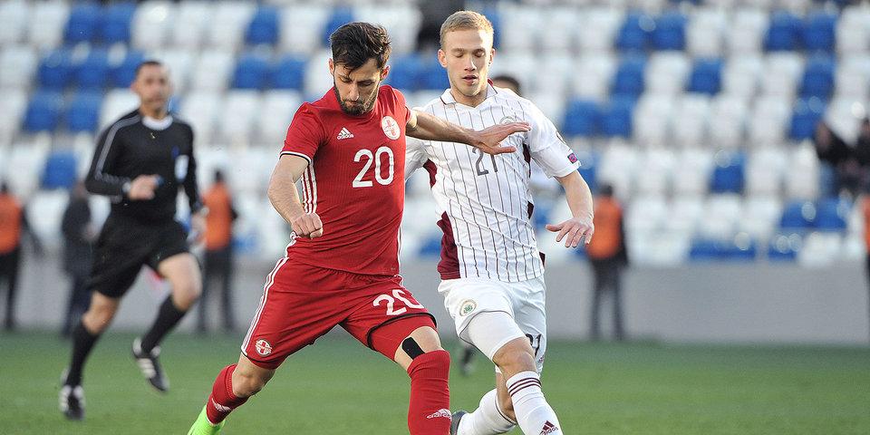 Дубль Мерабашвили принес Грузии победу над Казахстаном