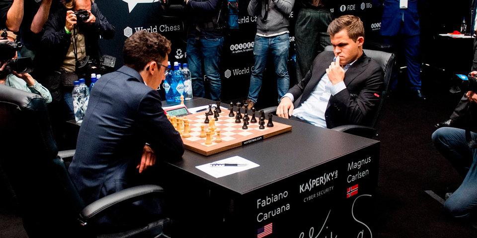 Карлсен и Каруана сыграли вничью в третьей партии матча за шахматную корону