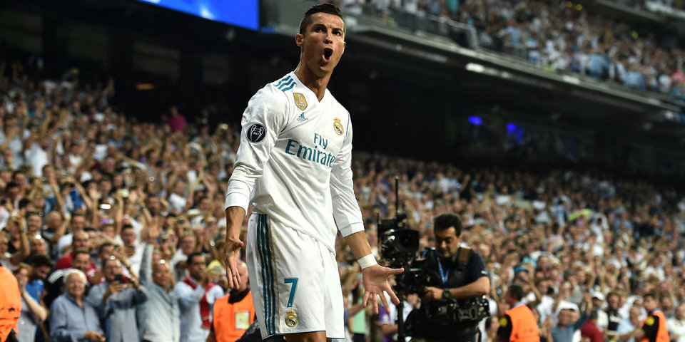 Роналду – лучший игрок недели в Лиге чемпионов