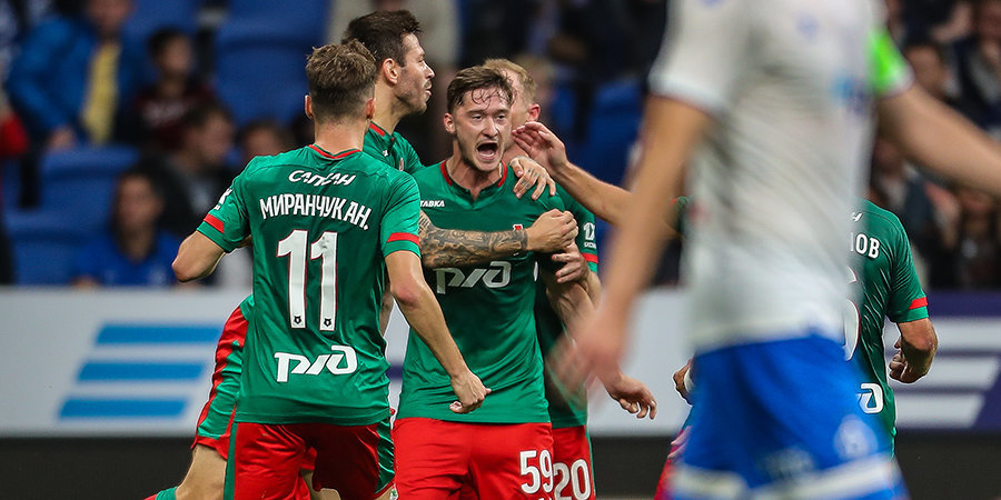 «Локомотив» обыграл «Динамо» и вплотную приблизился к «Зениту»