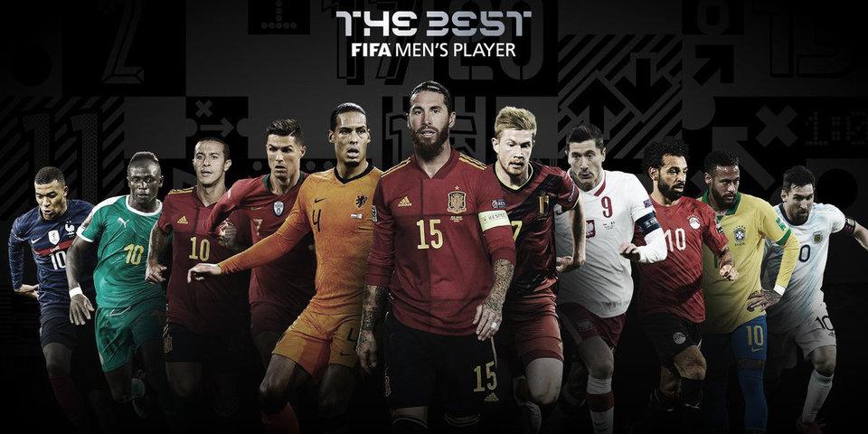 ФИФА объявила номинантов на премию лучшему футболисту по итогам 2020 года