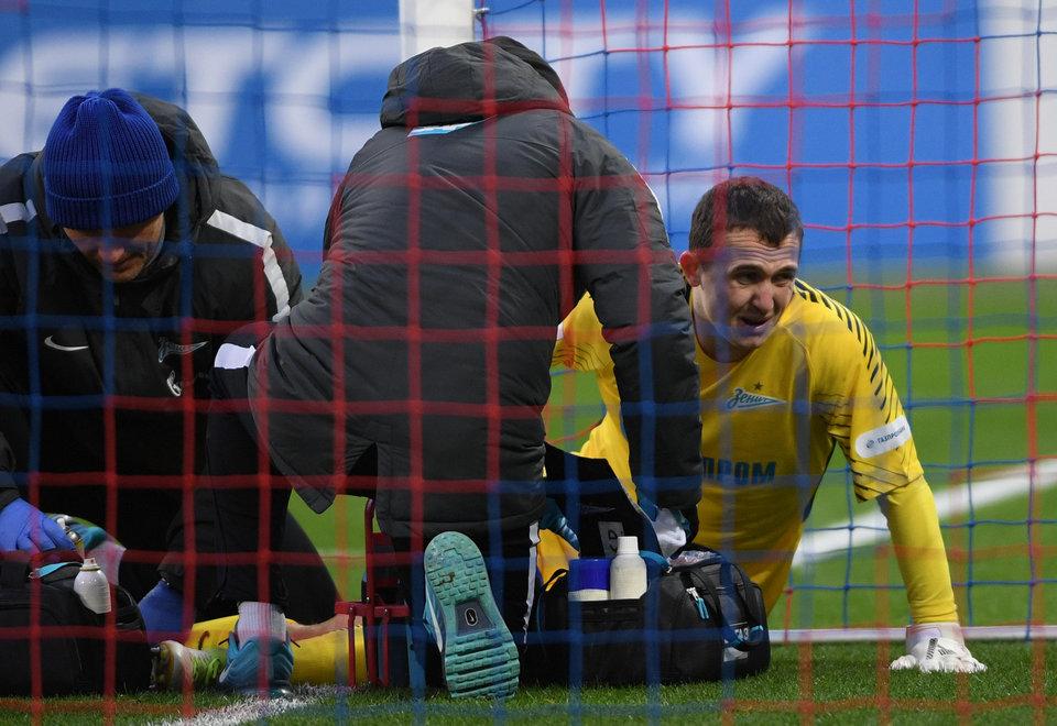 Лунев получил травму на разминке перед матчем с «Ростовом»