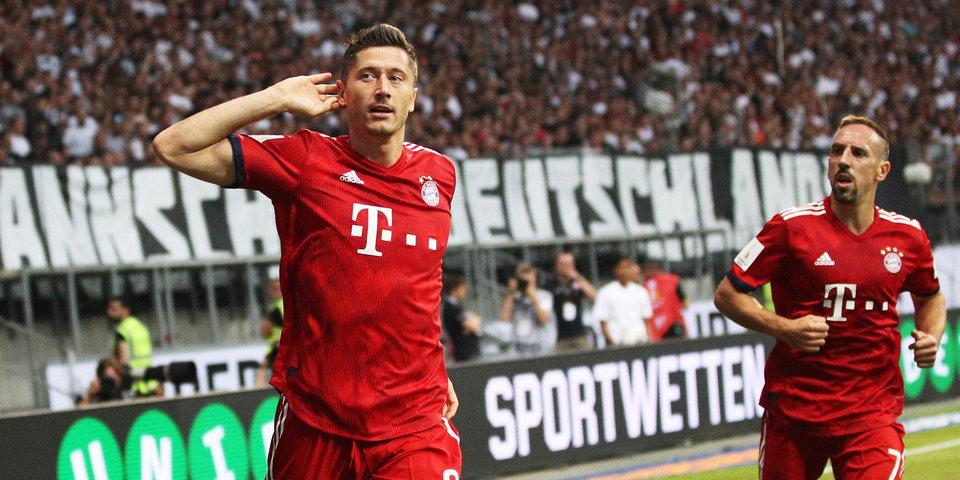 Левандовский помог «Баварии» выйти в 1/16 финала Кубка Германии, «Айнтрахт» сенсационно вылетел