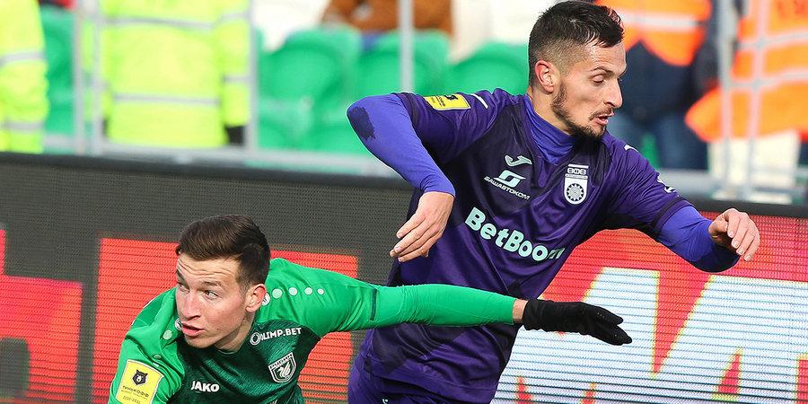 Милетич избежал серьезной травмы в матче с «Ахматом»