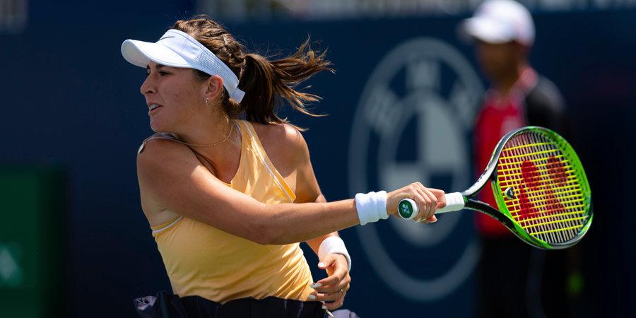 Бенчич стала второй финалисткой турнира в Аделаиде, где сыграет со Швёнтек
