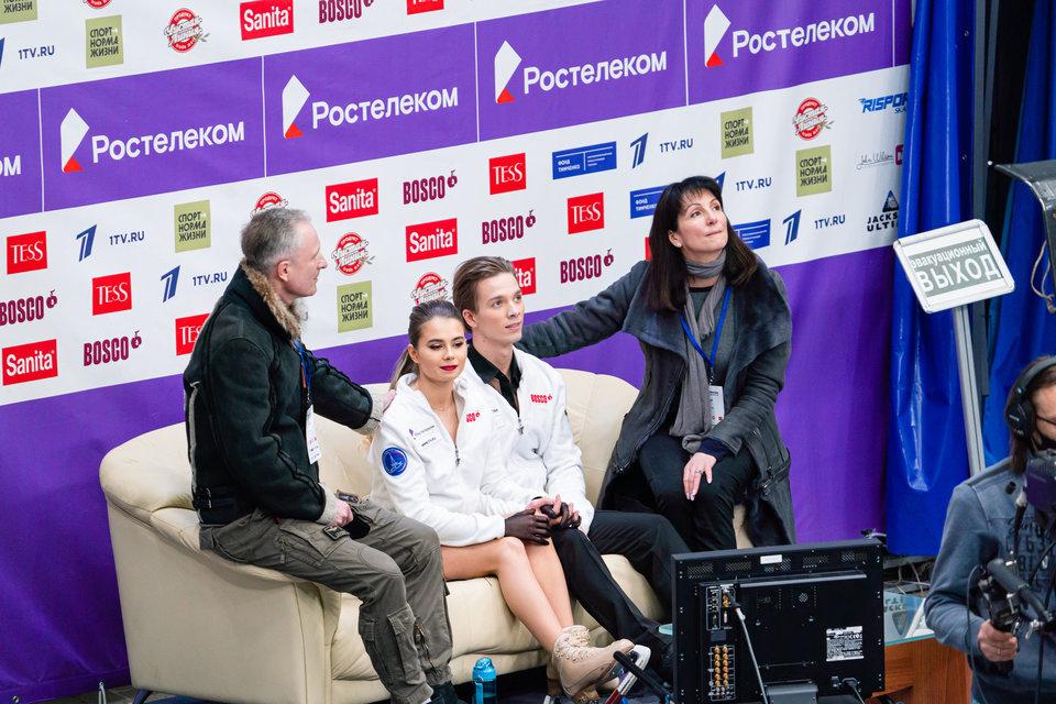 Тренеры фигуристов Шевченко и Еременко поддержали танцевальный дуэт, не попавший на Гран-при