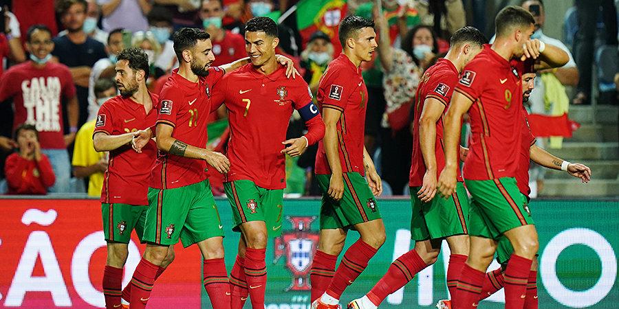 Португалия забила 5 мячей в ворота Люксембурга в отборе на ЧМ-2022. Сербия переиграла Азербайджан