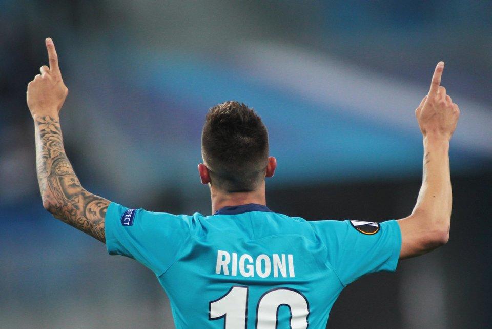 Ригони попал в символическую сборную группового этапа Лиги Европы