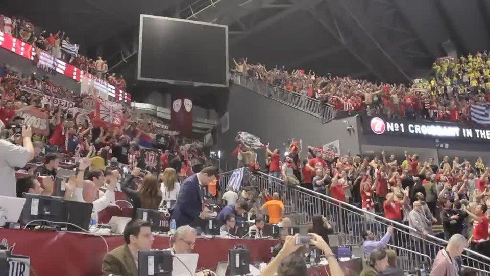 Что творилась на трибунах после победы «Олимпиакоса» над ЦСКА