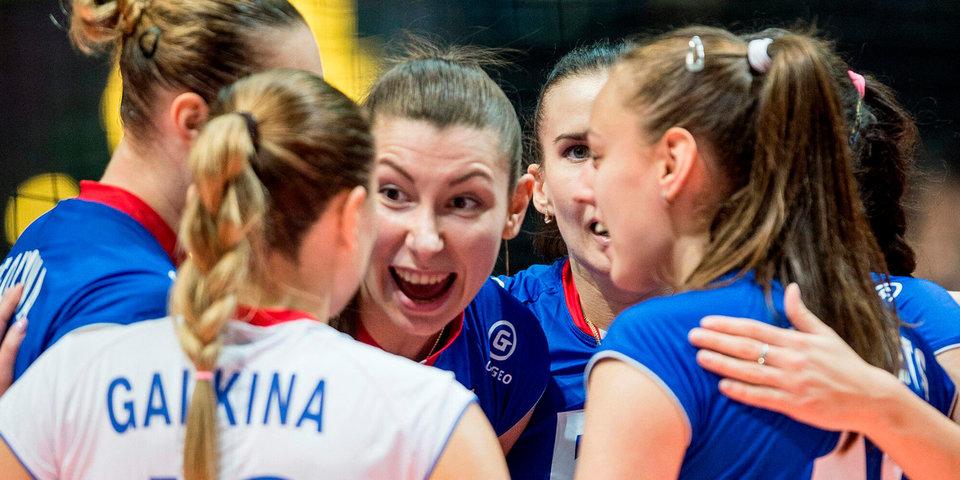 Российские волейболистки оказались сильнее китаянок