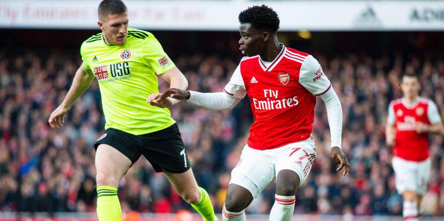 «Арсенал» переиграл «Шеффилд Юнайтед» благодаря голам Саки и Пепе
