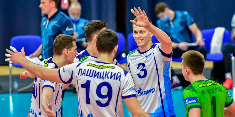 Санкт-петербургский «Зенит» обыграл «Югру-Самотлор» в первом матче квалификационного раунда Суперлиги
