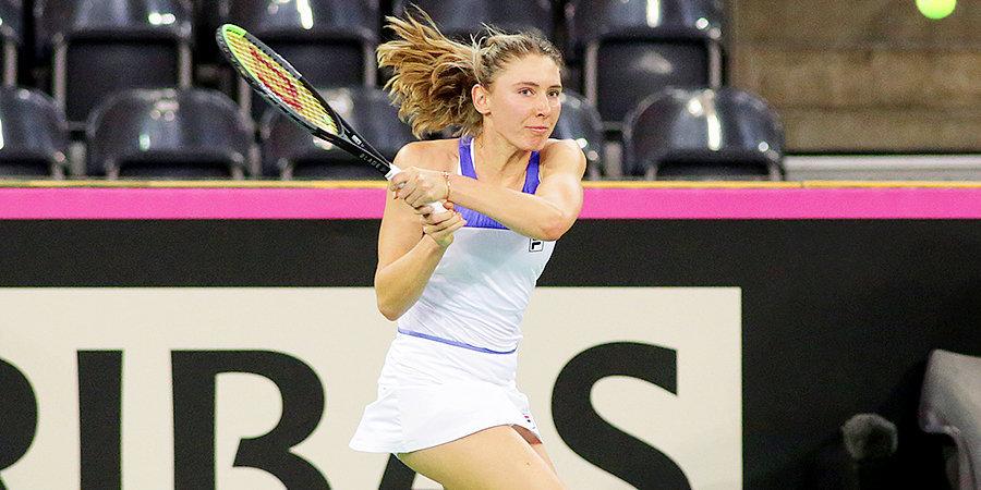 Александрова вышла в четвертьфинал турнира в Страсбурге