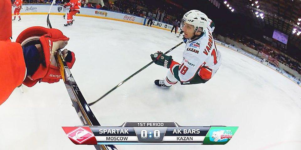 «Матч ТВ» использовал технологию First Vision в съемках хоккейного матча