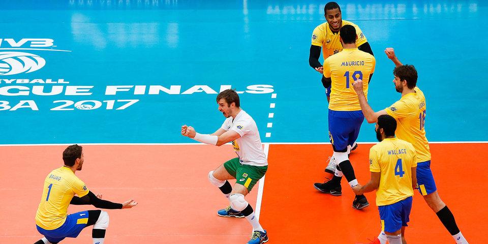 Сборная Бразилии – первый финалист Мировой лиги