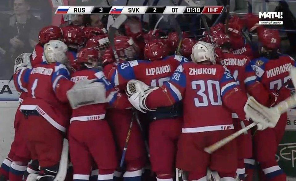 Россия вышла в полуфинал чемпионата мира в Словакии