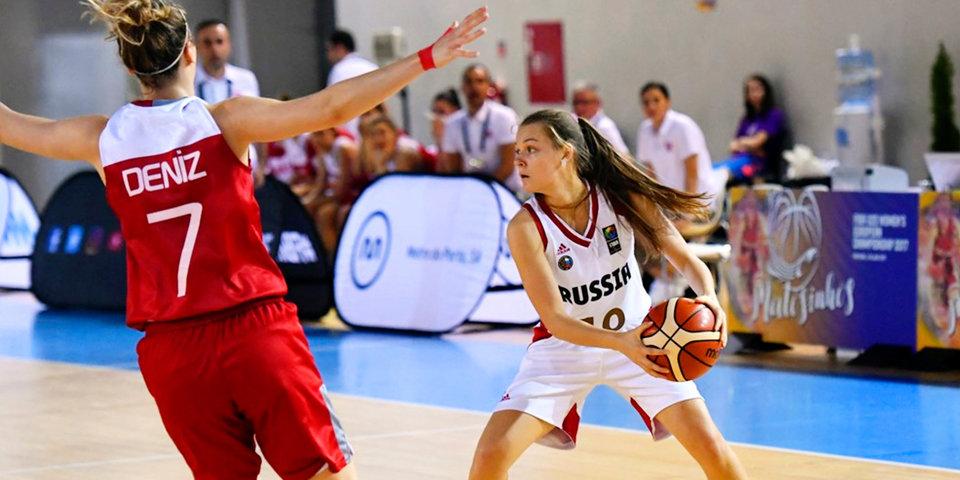 Российские баскетболистки разгромили Турцию на чемпионате Европы