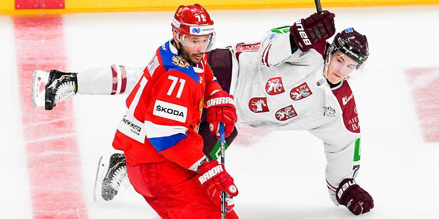Ковальчук вернулся в сборную и стал капитаном. Но от поражения в Риге россиян спасло четверное звено
