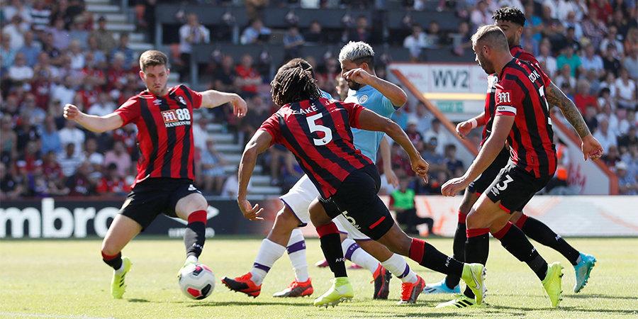 Дубль Агуэро помог «Манчестер Сити» обыграть «Борнмут». Де Брюйне установил рекорд АПЛ